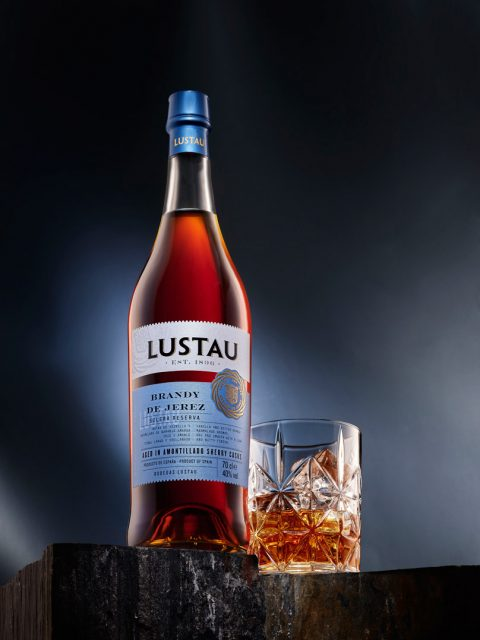 Sherry Old fashioned cocktail with Brandy. Lustau Brandy solera reserva