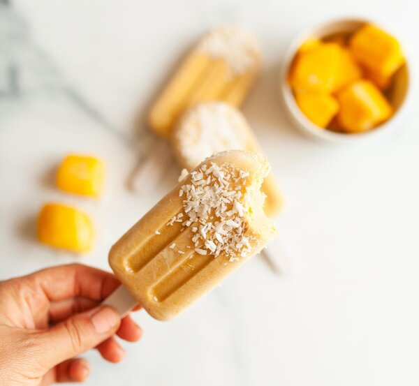 Mango fruit popsicle idea. How to make a delicious fruity mango popsicle using a blender or pressure cooker