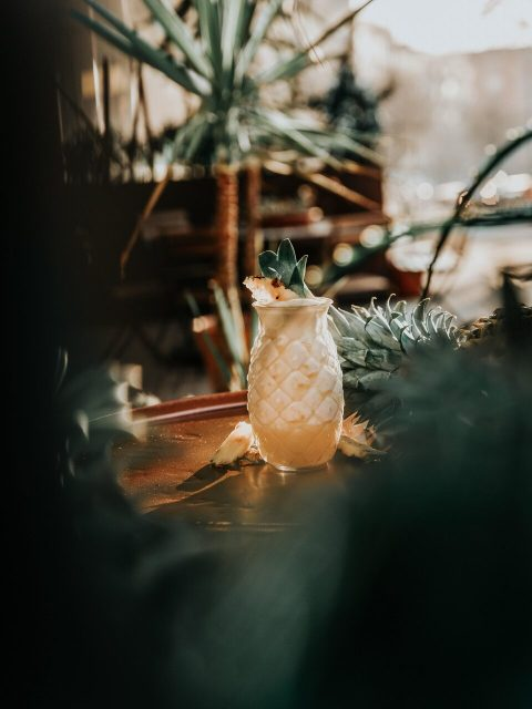 "Coco cocktail with Amontillado sherry ""Piña Colada"" using amontillado Lustau sherry"